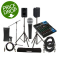 Yamaha MG10XU Mixer with DBR10 Speakers and Accessories