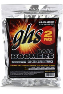 GHS ML3024-2 Bass Boomers Roundwound Long Scale Medium Light Bass Strings - 2-Pack
