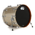 DW Collector's Series FinishPly Maple/Mahogany Bass Drum - 18