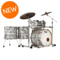 Pearl Music City Custom Masters Reserve Shell Pack - 6 Piece - Black & White Oyster