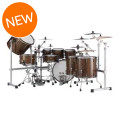 Pearl Masterworks Urban Exotic 9-piece Shell Pack - Brown Lacquer over Zebrawood