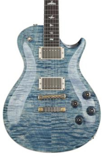 PRS McCarty Singlecut 594 Figured Top - Faded Whale Blue with Pattern Vintage Neck