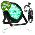 ADJ Mega Par Profile Plus RGB+UV Par Package w/ Clamp, DMX Cable, Safety Cable
