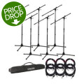 Gator Frameworks Rok-It Series Mic Stand 6-pack w/Cables and BagRok-It Series Mic Stand 6-pack w/Cables and Bag