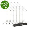 On-Stage Stands MS7801W Tripod Microphone Stand Package - 6 Stands + 1 Bag, WhiteMS7801W Tripod Microphone Stand Package - 6 Stands + 1 Bag, White