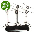 On-Stage Stands MS7701B Tripod Microphone Stand Bundle - 6 Stands + 6 Cables + 1 Bag, BlackMS7701B Tripod Microphone Stand Bundle - 6 Stands + 6 Cables + 1 Bag, Black