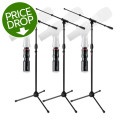 Gator Frameworks Mic Stand and Quick-release Mic Adapter 3-pack