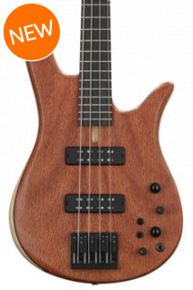 Fodera Monarch Standard Special, Redwood Pinburl - Natural, Black Hardware, No inlay