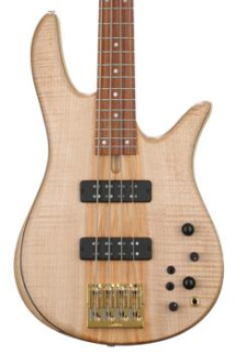 Fodera Monarch Standard - Flame Top, Natural