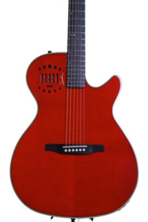 Godin MultiAc Steel Duet Ambiance - Transparent Red