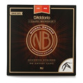 D'Addario NB1356 Nickel Bronze Acoustic Strings Medium Set with Artist Capo Bundle