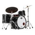 Stone Custom Drum Company Niles 5-ply Maple/Poplar 3-piece Shell Pack - Black Pearl - 24