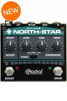 Radial Tonebone North Star Overdrive and 24dB Boost Pedal