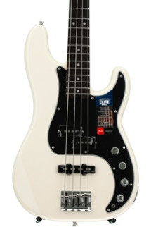 Fender American Elite Precision Bass - Olympic White, Rosewood Fingerboard