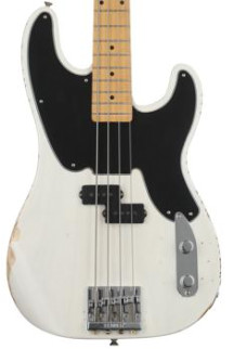 Fender Mike Dirnt Road Worn Precision Bass - White Blonde/Maple FB