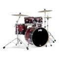 PDP Concept Maple Shell Pack - 5-piece - Red To Black Sparkle FadeConcept Maple Shell Pack - 5-piece - Red To Black Sparkle Fade