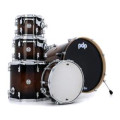 PDP Concept Maple Exotic Shell Pack - 5-piece - Charcoal Burst over WalnutConcept Maple Exotic Shell Pack - 5-piece - Charcoal Burst over Walnut