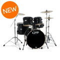 PDP Mainstage 5-piece Drum Set with Hardware & Paiste Cymbals - Black MetallicMainstage 5-piece Drum Set with Hardware & Paiste Cymbals - Black Metallic