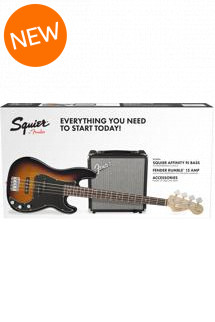Squier PJ Bass Pack - Brown Sunburst