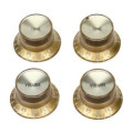 Gibson Accessories Top Hat Style Knobs w/Metal Insert - Gold w/Gold