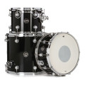 DW Performance Series 3-piece Tom/Snare Pack - Gloss Black Finish Ply