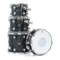 DW Performance Series 4-Piece Tom/Snare Pack - Black Diamond Finish Ply