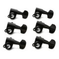 D'Addario Planet Waves Auto-Trim Locking Tuners - 6-Inline - Black