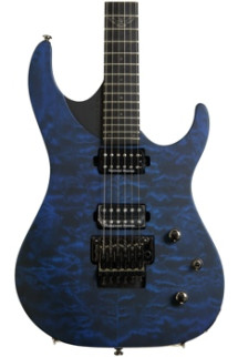 Washburn Parallaxe PXM10 - Quilted Trans Blue