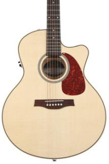 Seagull Guitars Performer Cutaway Mini Jumbo Flame Maple QI - Natural
