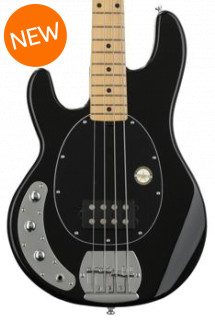 Sterling Ray4 Left-Handed - Gloss Black, Maple Fingerboard