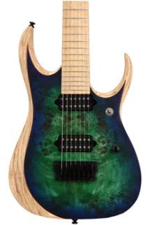 Ibanez RGDIX7MPB RGD Iron Label, Plek'd - Surreal Blue Burst