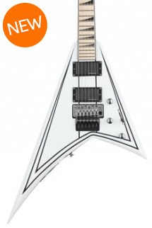 Jackson RR24 X Series Rhoads - Satin White with Black Pinstripes