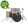Pearl Roadshow 5pc Drum Set with Wuhan Cymbals - Bronze MetallicRoadshow 5pc Drum Set with Wuhan Cymbals - Bronze Metallic