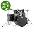 Pearl Roadshow 5pc Drum Set with Wuhan Cymbals - Jet Black