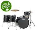 Pearl Roadshow 5pc Rock Drum Set with Wuhan Cymbals - Jet Black