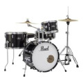 Pearl Roadshow 4-piece Complete Drum Set with Cymbals - Jet Black