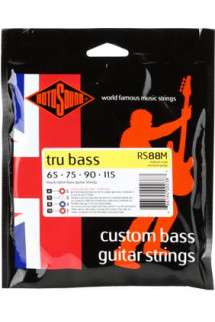 Rotosound RS88M Tru Bass 88 Black Nylon Tapewound Medium Scale Bass Strings