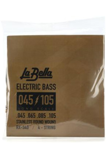 La Bella RX-S4D Rx Stainless Bass Strings - 0.045-0.105 4-string