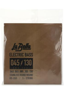 La Bella RX-S5D Rx Stainless Bass Strings - 0.045-0.130 5-string