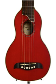 Washburn RO10 Rover Travel Guitar - Trans Red