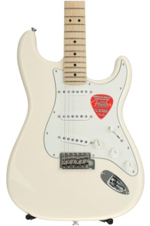 Fender American Special Stratocaster, Bone Nut Upgrade, Plek'd - Olympic White with Maple Fingerboard