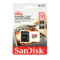 Sandisk Ultra microSDHC Card - 32GB, Class 10, UHS-I