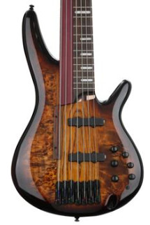 Ibanez SRAS7 Fretted/Fretless Hybrid Bass - Dragon Eye Burst