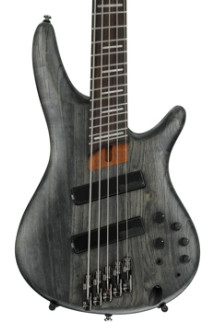 Ibanez Bass Workshop SRFF805 Multi-Scale - Black Stained Ash