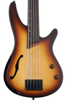 Ibanez SRH505F Fretless - Natural Browned Burst Flat