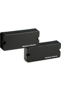 Seymour Duncan SSB-4s Passive Soapbar Bass Pickup Set - Black