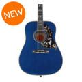 Gibson Acoustic Hummingbird Custom Quilt - Viper Blue