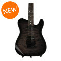 Charvel Pro-Mod San Dimas Style 2 HH Floyd Rose - Trans Black Burst with Rosewood Fingerboard