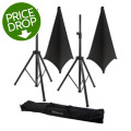 Gator Frameworks 3000 Speaker Stand, Bag and Cover Package - Black