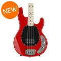 Ernie Ball Music Man StingRay 4H, Sweetwater Exclusive - Chili Red with Black Pickguard, Maple Fingerboard